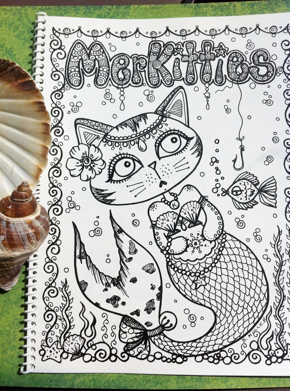 MERKITTIES Coloring Book This Is A Funny Little Book For All Cat Lovers.